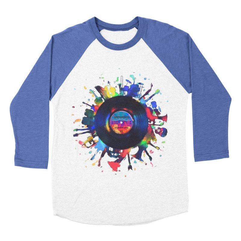 unplugged Men's Baseball Triblend Longsleeve T-Shirt by muag's Artist Shop