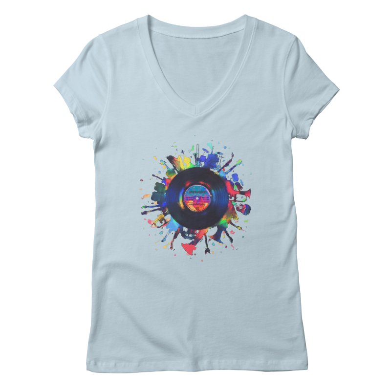 unplugged Women's V-Neck by muag's Artist Shop