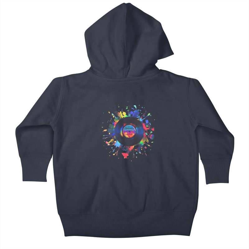 unplugged Kids Baby Zip-Up Hoody by muag's Artist Shop