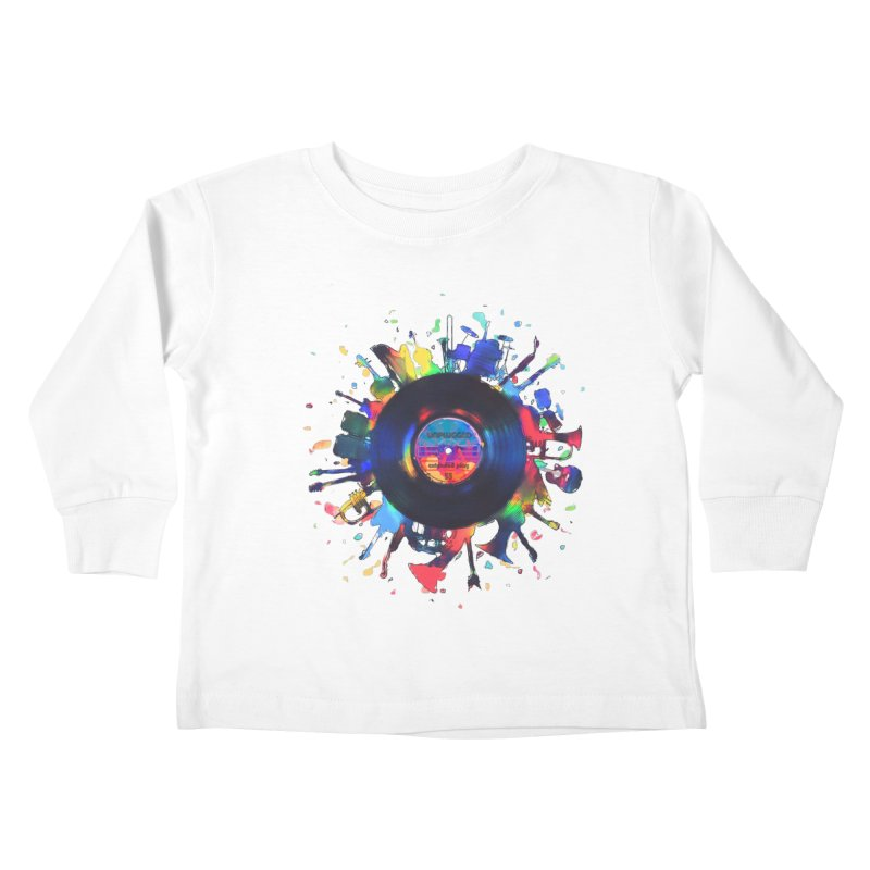 unplugged Kids Toddler Longsleeve T-Shirt by muag's Artist Shop