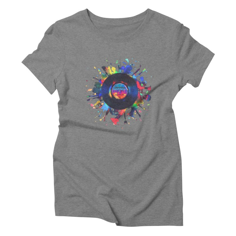 unplugged Women's Triblend T-Shirt by muag's Artist Shop