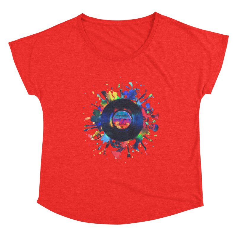 unplugged Women's Scoop Neck by muag's Artist Shop