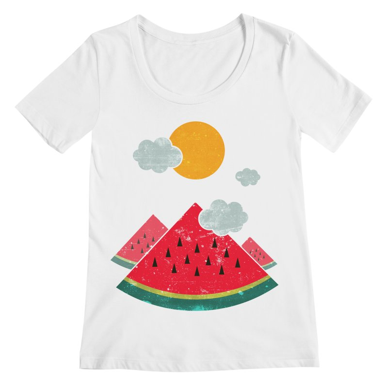eatventure time! Women's Regular Scoop Neck by muag's Artist Shop