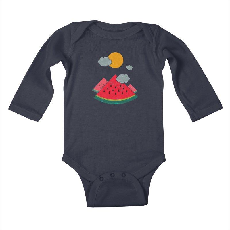 eatventure time! Kids Baby Longsleeve Bodysuit by muag's Artist Shop