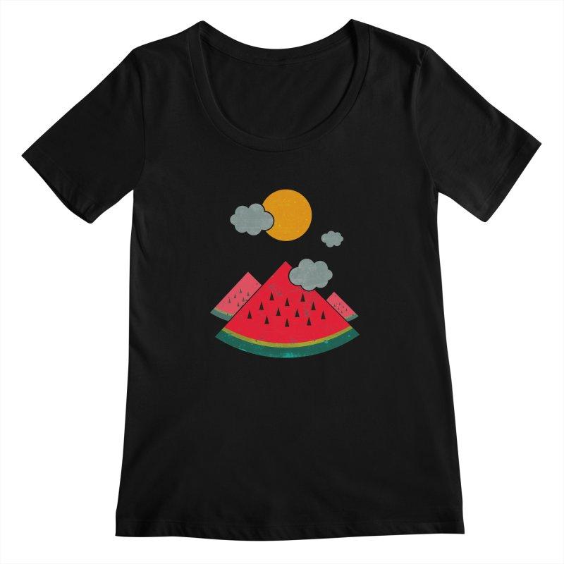eatventure time! Women's Scoopneck by muag's Artist Shop