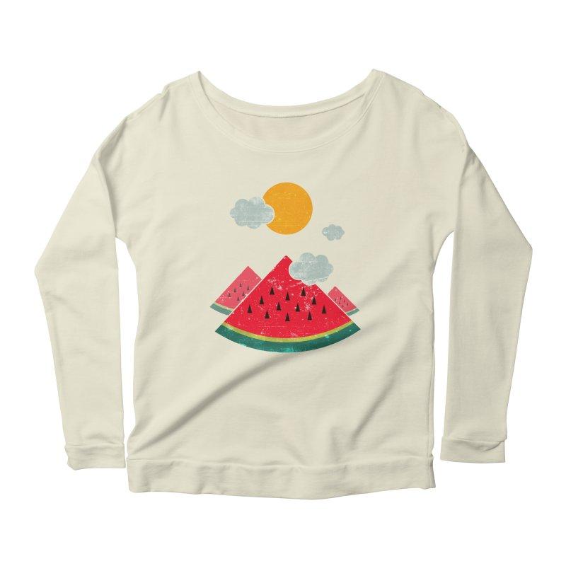 eatventure time! Women's Scoop Neck Longsleeve T-Shirt by muag's Artist Shop