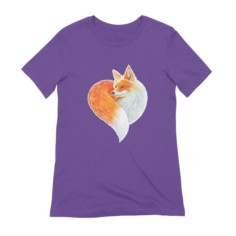 love foxes Women's Extra Soft T-Shirt by muag's Artist Shop