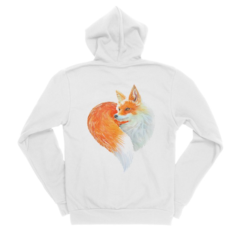 love foxes Men's Sponge Fleece Zip-Up Hoody by muag's Artist Shop