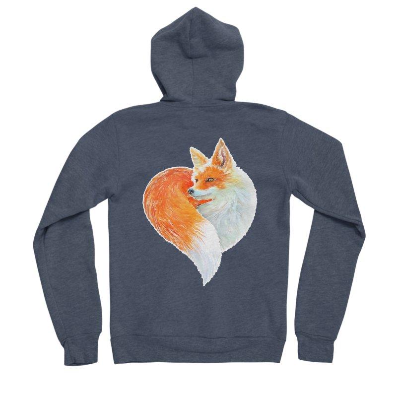 love foxes Women's Sponge Fleece Zip-Up Hoody by muag's Artist Shop
