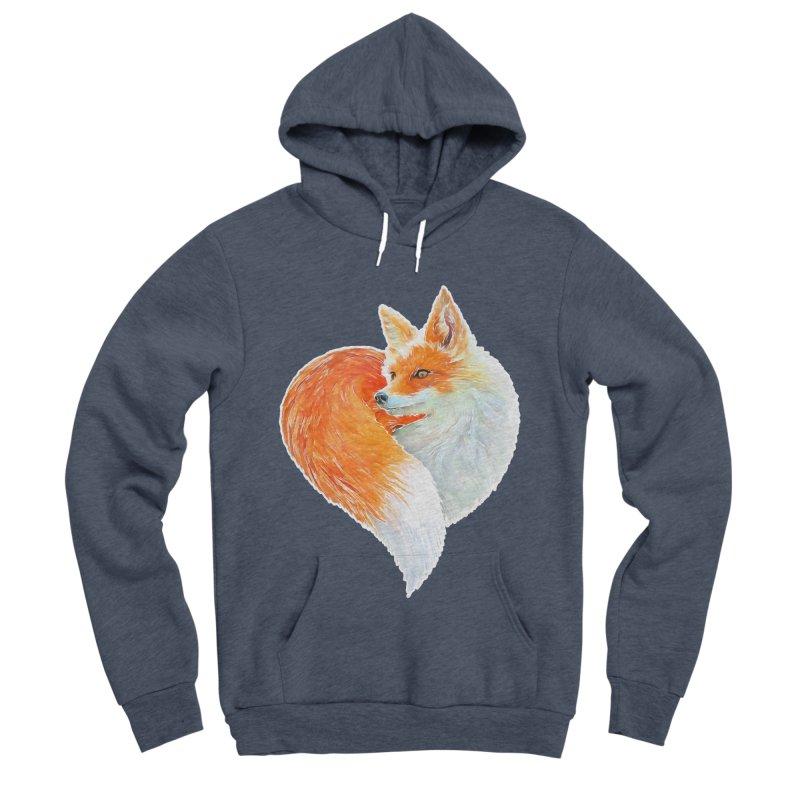love foxes Women's Sponge Fleece Pullover Hoody by muag's Artist Shop