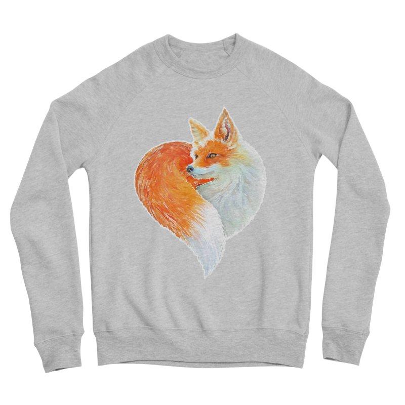 love foxes Women's Sponge Fleece Sweatshirt by muag's Artist Shop