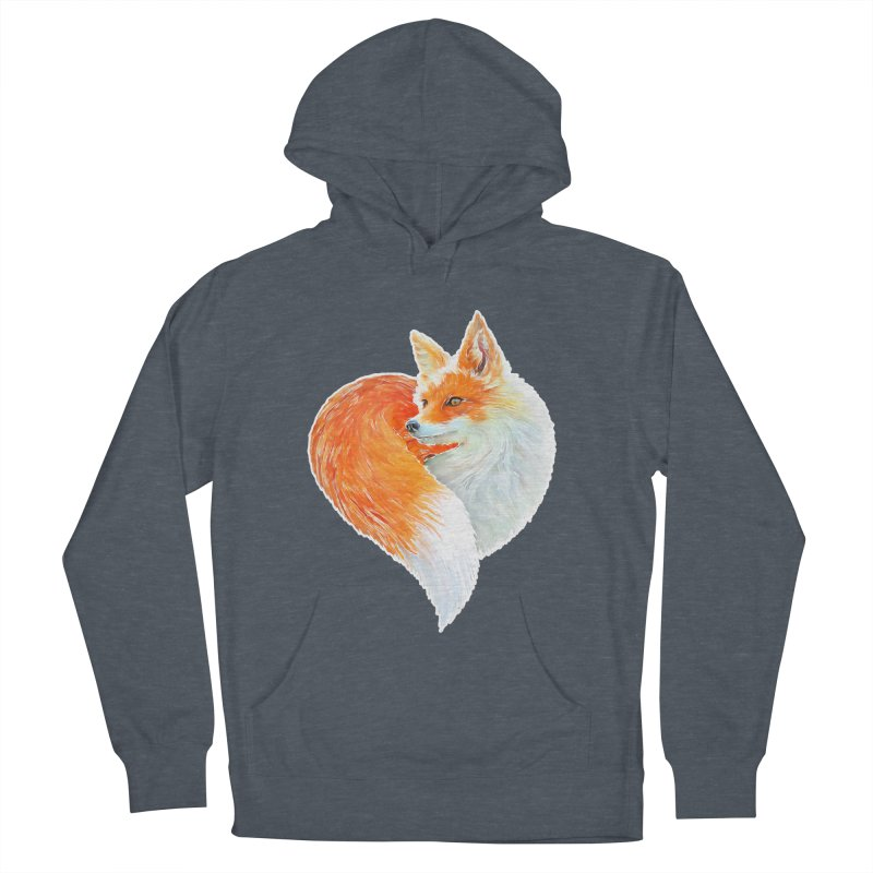 love foxes Men's French Terry Pullover Hoody by muag's Artist Shop
