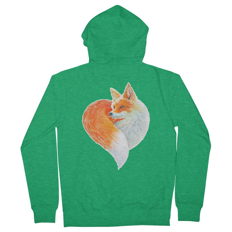 love foxes Women's Zip-Up Hoody by muag's Artist Shop