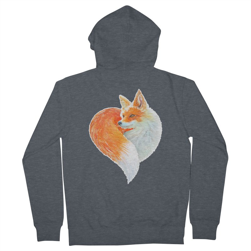 love foxes Men's French Terry Zip-Up Hoody by muag's Artist Shop
