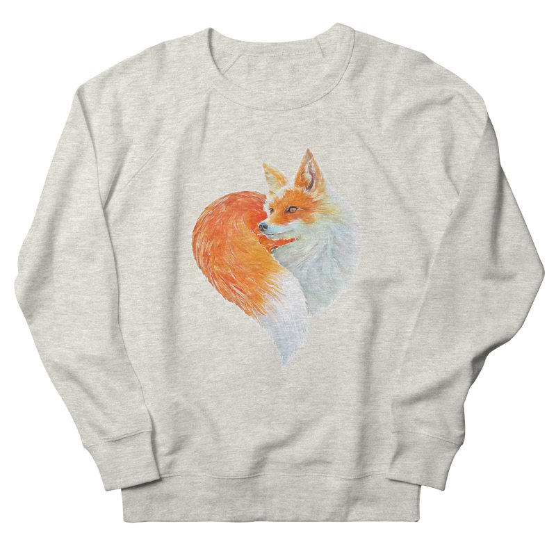 love foxes Men's French Terry Sweatshirt by muag's Artist Shop