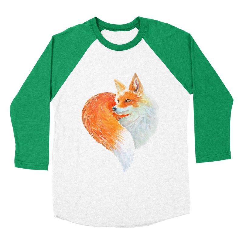 love foxes Women's Baseball Triblend Longsleeve T-Shirt by muag's Artist Shop