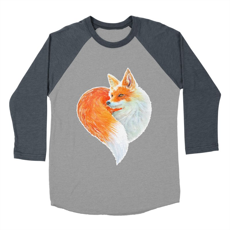 love foxes Men's Baseball Triblend Longsleeve T-Shirt by muag's Artist Shop