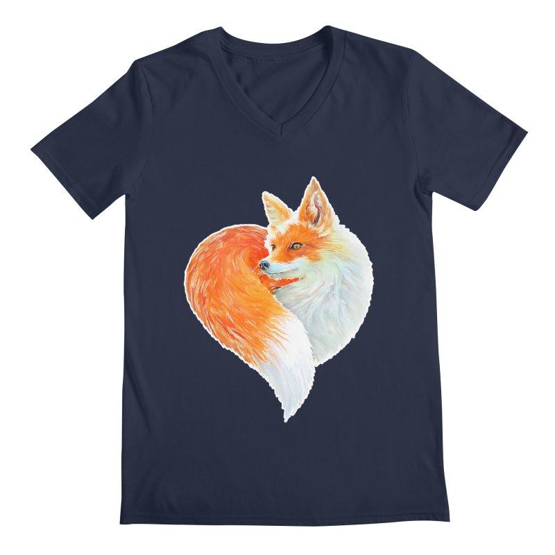 love foxes Men's Regular V-Neck by muag's Artist Shop