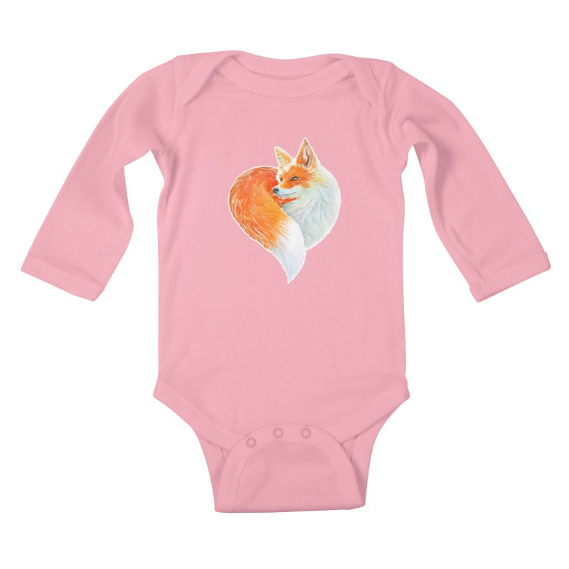 love foxes Kids Baby Longsleeve Bodysuit by muag's Artist Shop