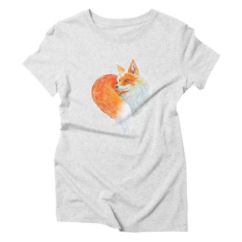 love foxes Women's T-Shirt by muag's Artist Shop