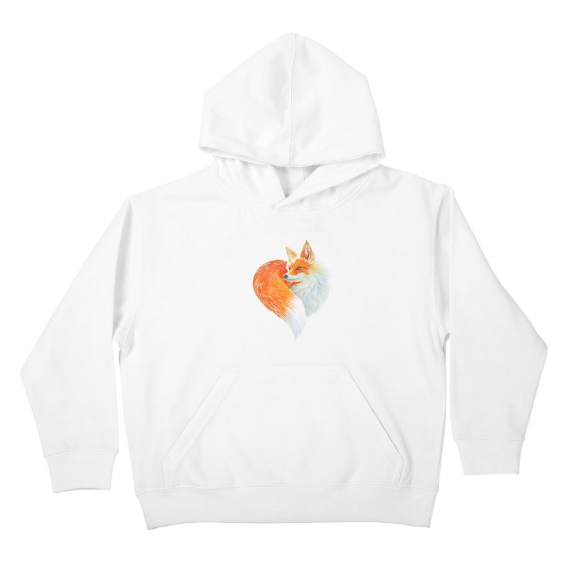love foxes Kids Pullover Hoody by muag's Artist Shop