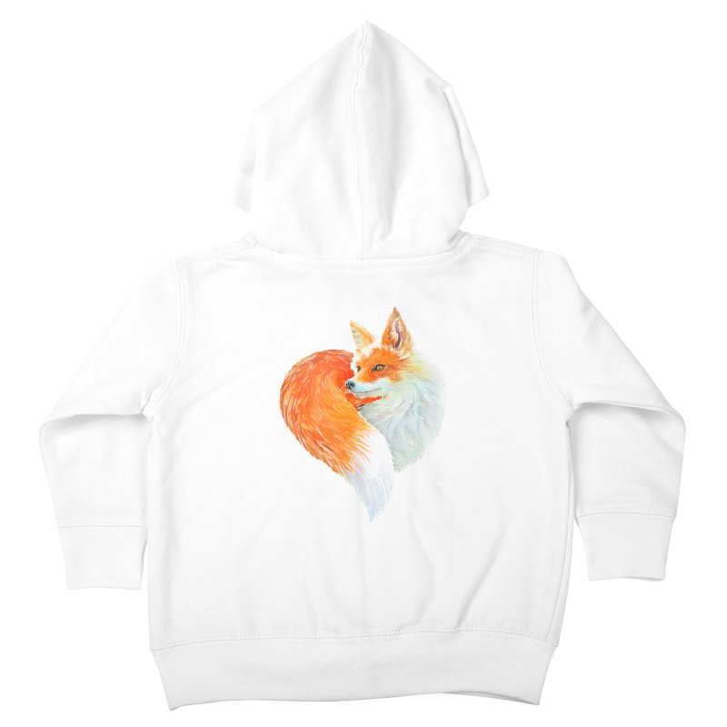 love foxes Kids Toddler Zip-Up Hoody by muag's Artist Shop