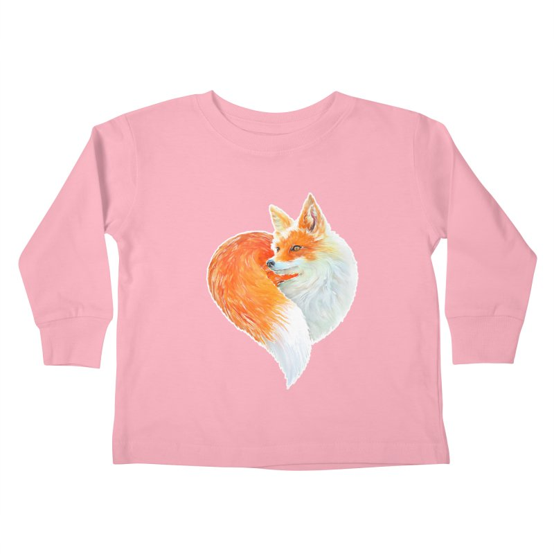 love foxes Kids Toddler Longsleeve T-Shirt by muag's Artist Shop