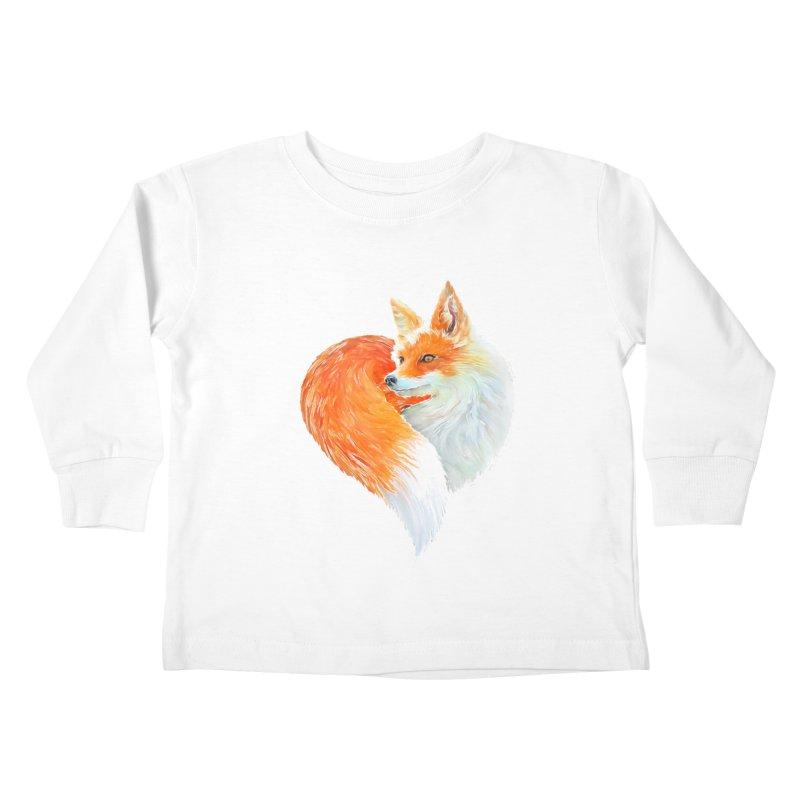 love foxes Kids Toddler Longsleeve T-Shirt by muag's Artist Shop