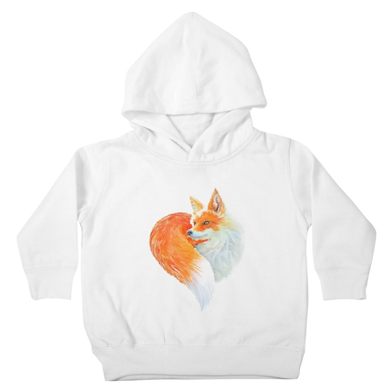 love foxes Kids Toddler Pullover Hoody by muag's Artist Shop