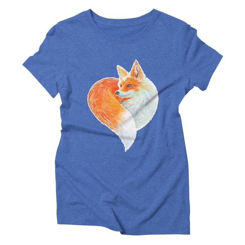 love foxes Women's Triblend T-Shirt by muag's Artist Shop