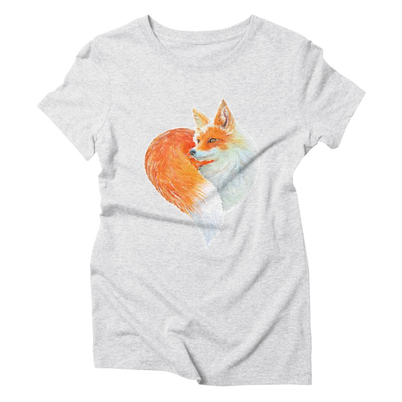 love foxes Women's Triblend T-Shirt by muag's Artist Shop
