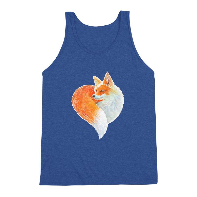 love foxes Men's Triblend Tank by muag's Artist Shop