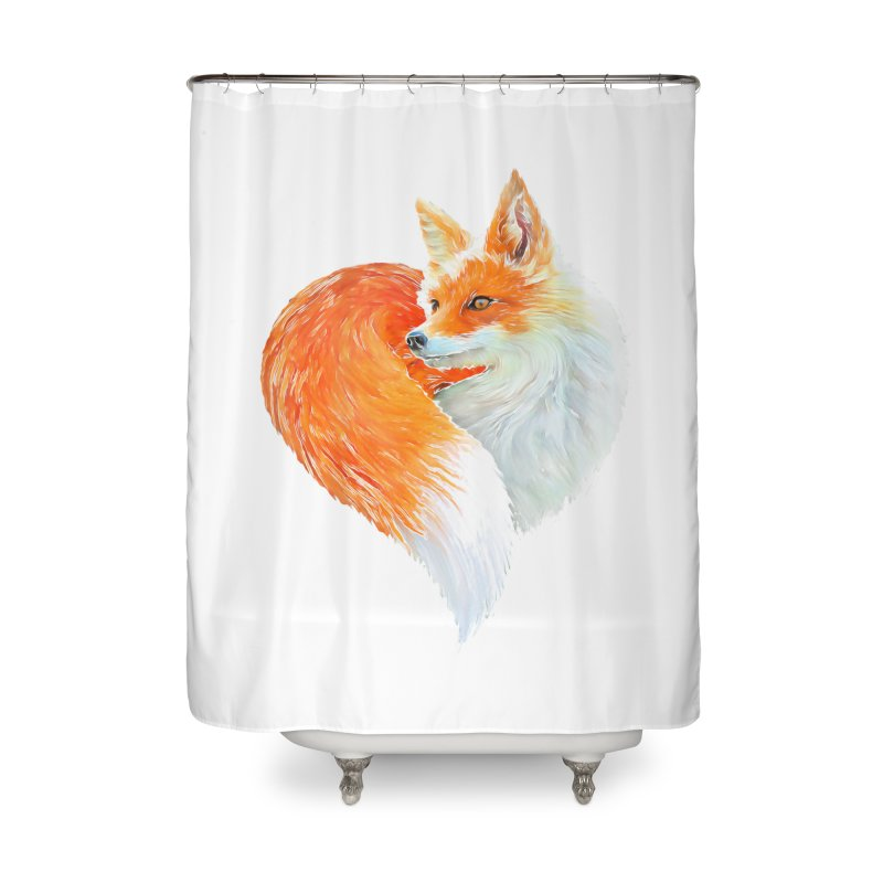 love foxes Home Shower Curtain by muag's Artist Shop