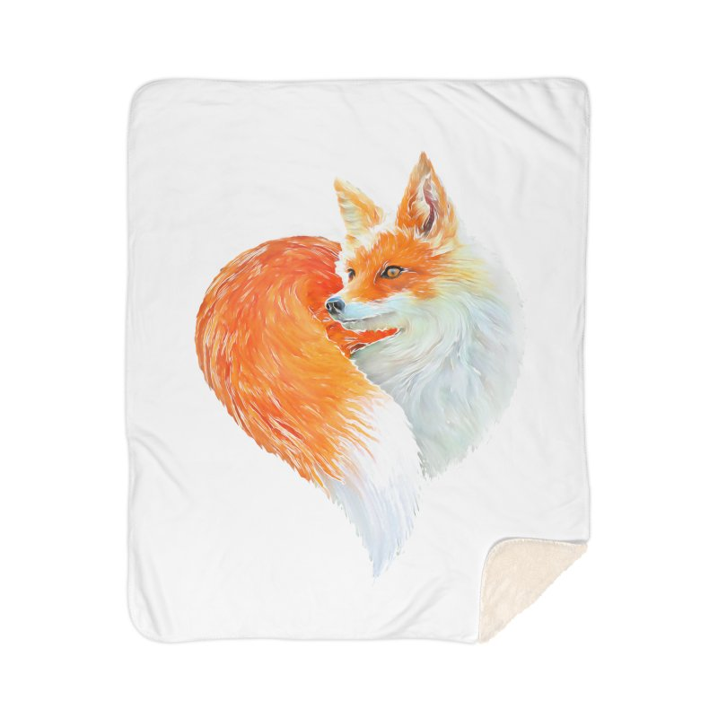 love foxes Home Sherpa Blanket Blanket by muag's Artist Shop