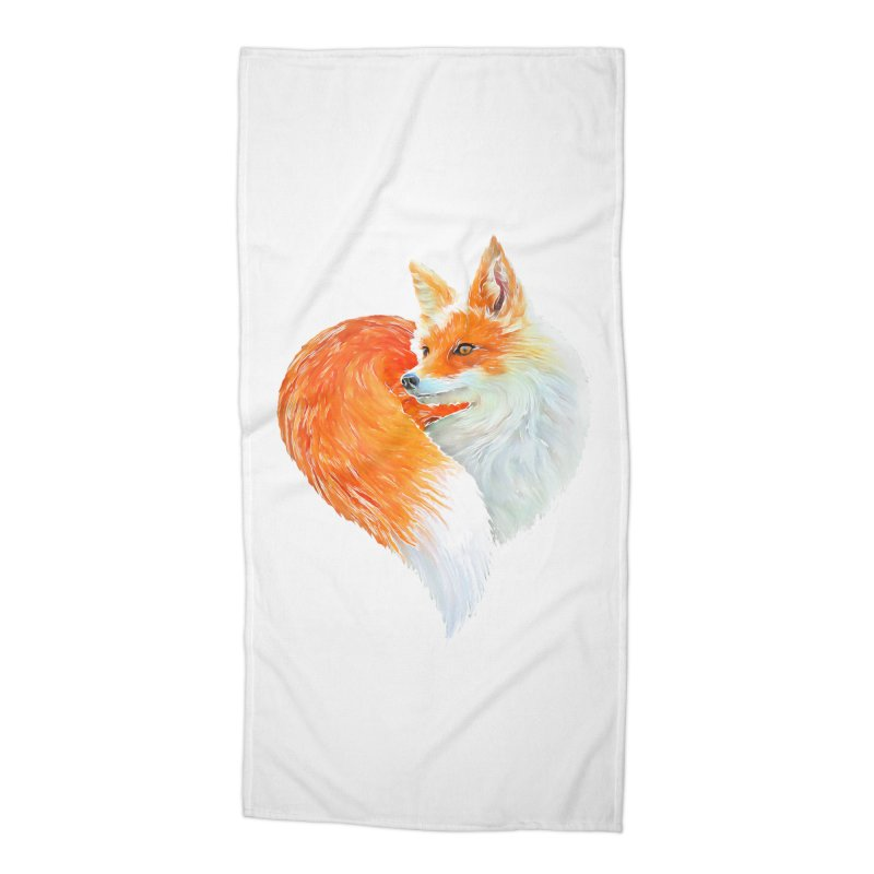 love foxes Accessories Beach Towel by muag's Artist Shop