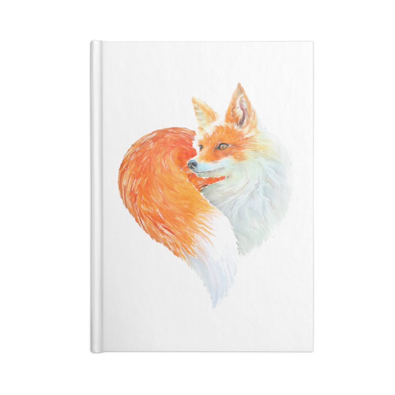 love foxes Accessories Lined Journal Notebook by muag's Artist Shop