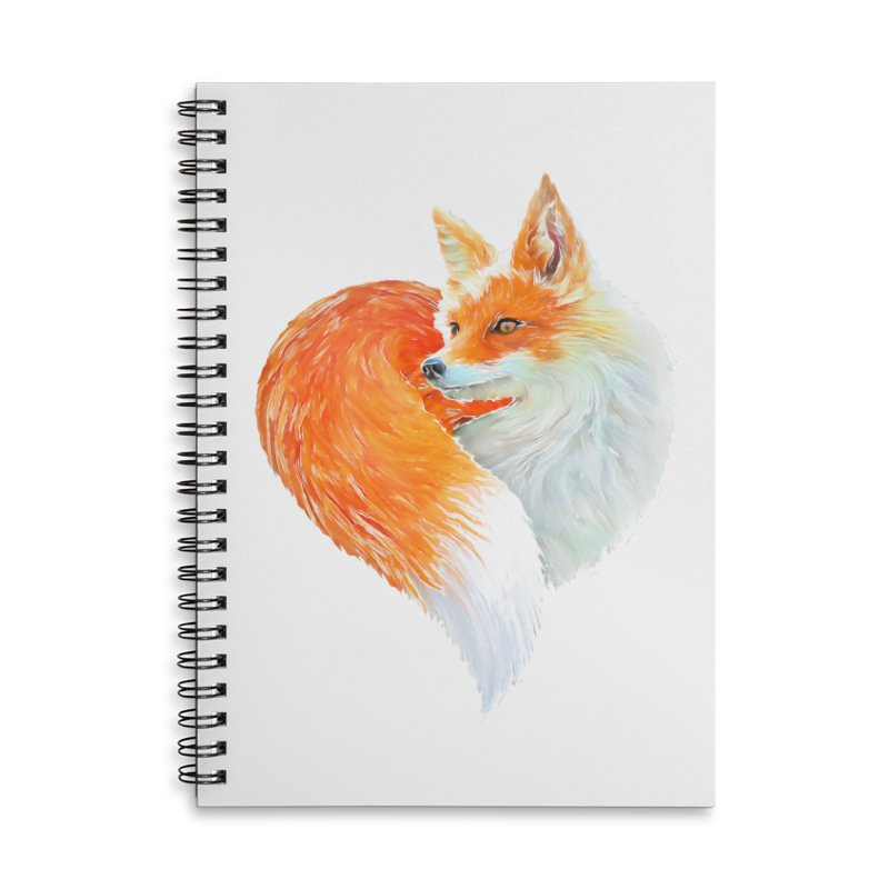 love foxes Accessories Lined Spiral Notebook by muag's Artist Shop