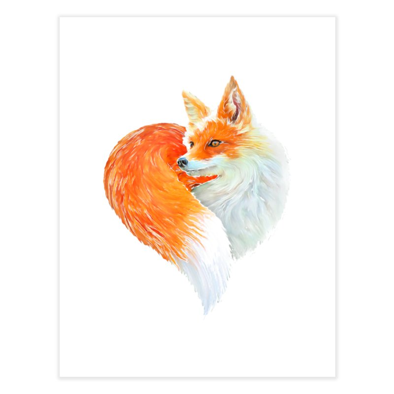 love foxes Home Fine Art Print by muag's Artist Shop