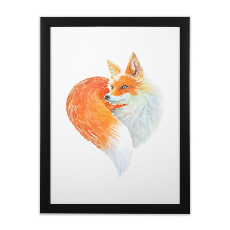 love foxes Home Framed Fine Art Print by muag's Artist Shop