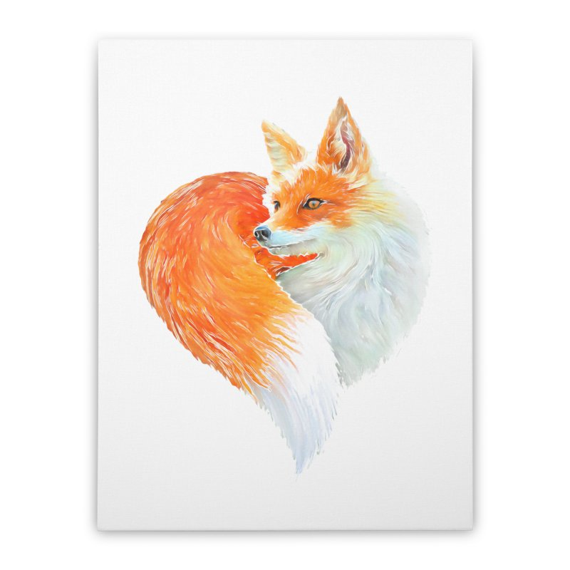 love foxes Home Stretched Canvas by muag's Artist Shop