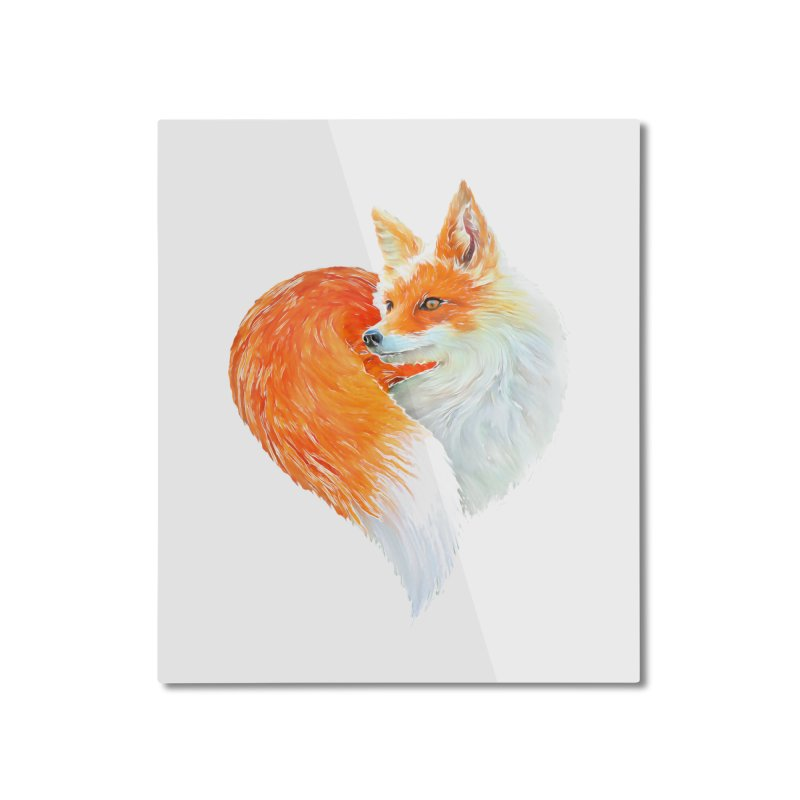 love foxes Home Mounted Aluminum Print by muag's Artist Shop