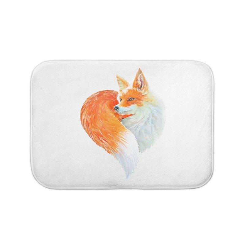 love foxes Home Bath Mat by muag's Artist Shop