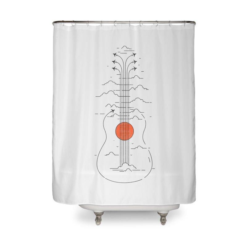 air show Home Shower Curtain by muag's Artist Shop
