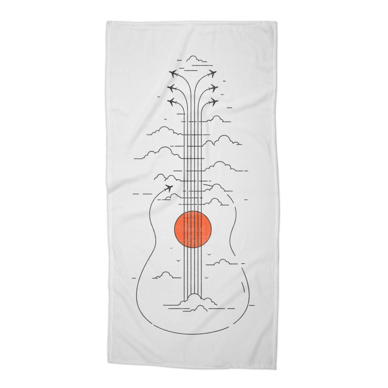 air show Accessories Beach Towel by muag's Artist Shop
