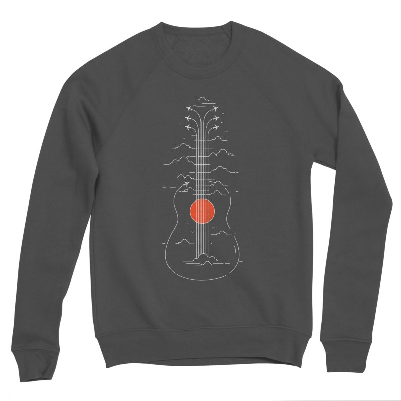 air show (dark) Women's Sponge Fleece Sweatshirt by muag's Artist Shop