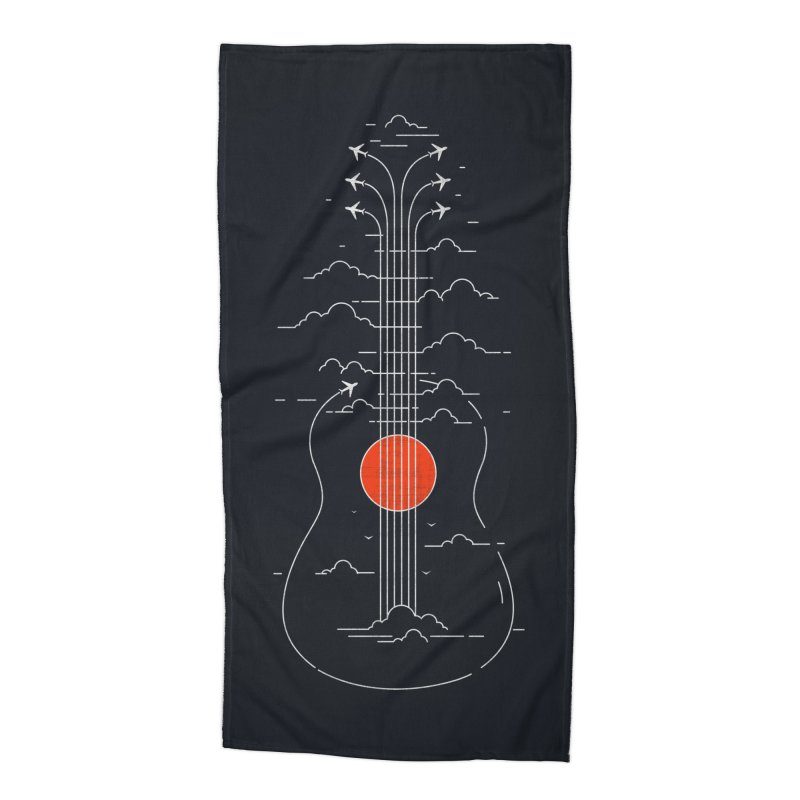 air show (dark) Accessories Beach Towel by muag's Artist Shop
