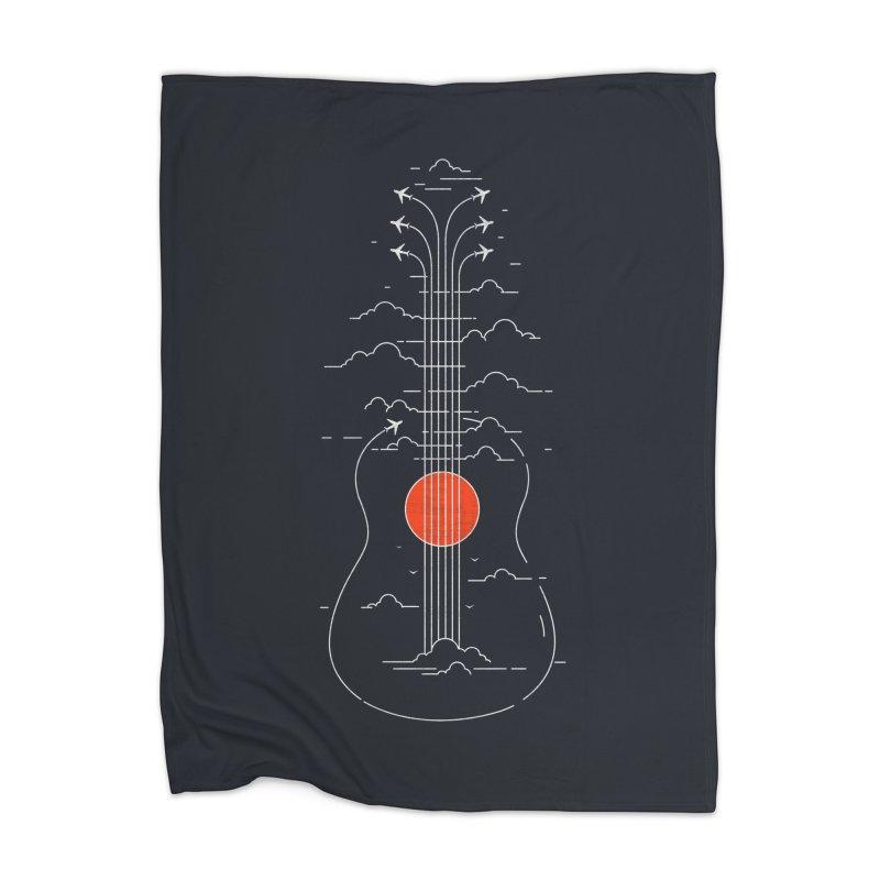 air show (dark) Home Blanket by muag's Artist Shop