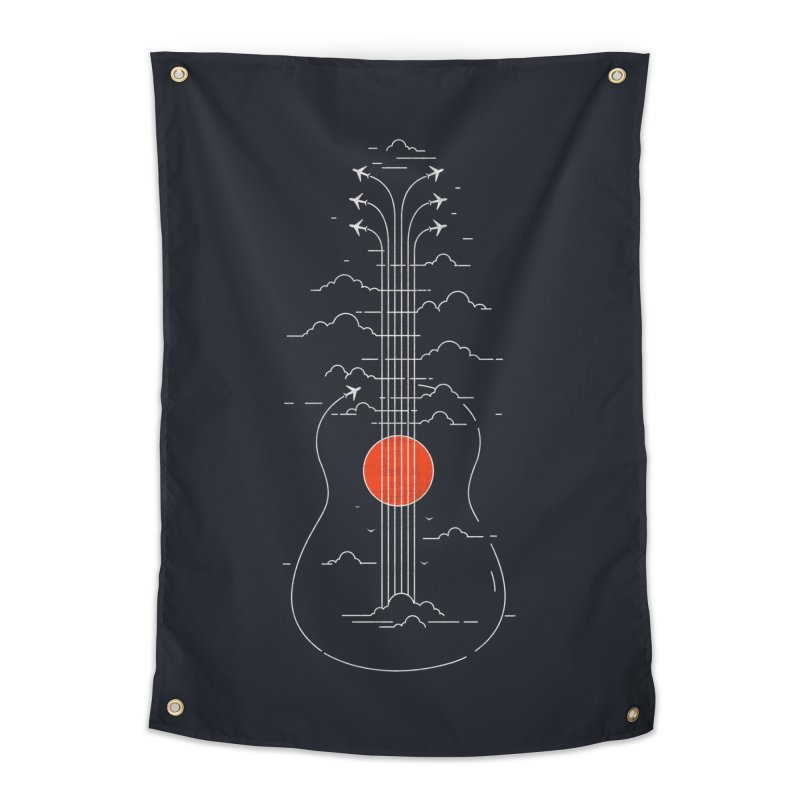 air show (dark) Home Tapestry by muag's Artist Shop