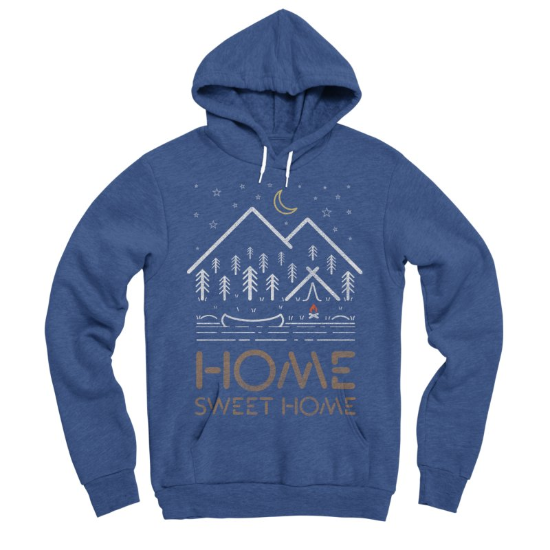 my sweet home Women's Sponge Fleece Pullover Hoody by muag's Artist Shop