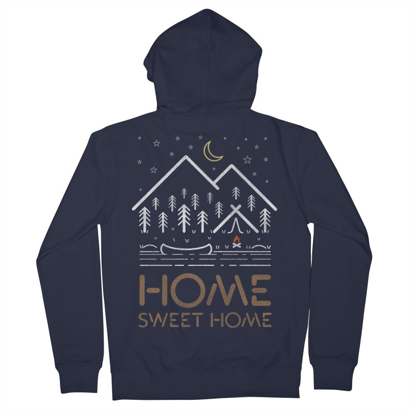 my sweet home Women's French Terry Zip-Up Hoody by muag's Artist Shop
